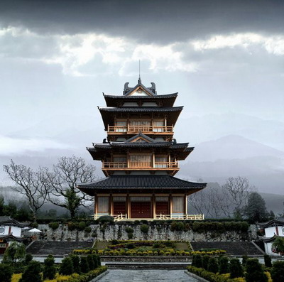 Chinese Traditional Architecture Series:  Pavilion Tower