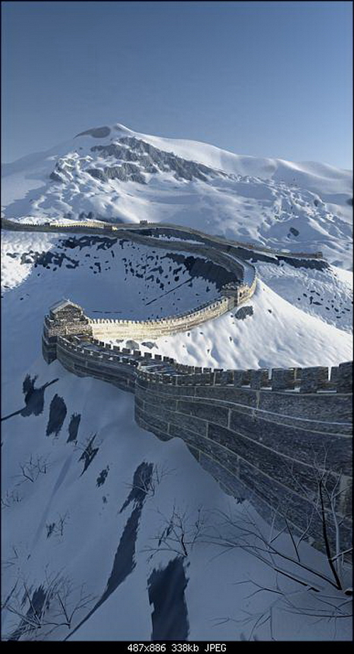 Magnificent Great Wall Snowscape