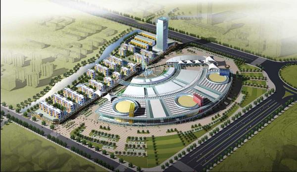 East China City plastic model