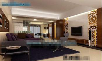 Commercial living room 3D Model