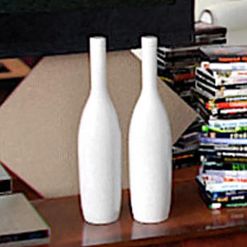 Simple white bottles 3D model