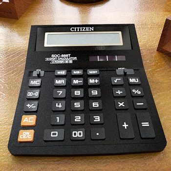 The calculator 3D model