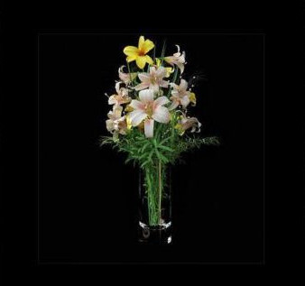 Beautiful lily flower vase