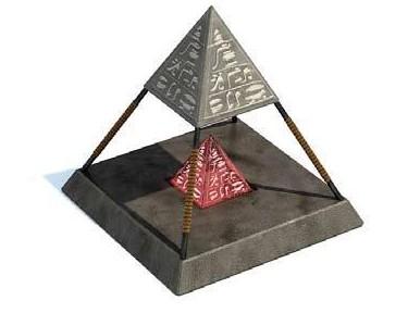 3D games props - pyramids 3D models