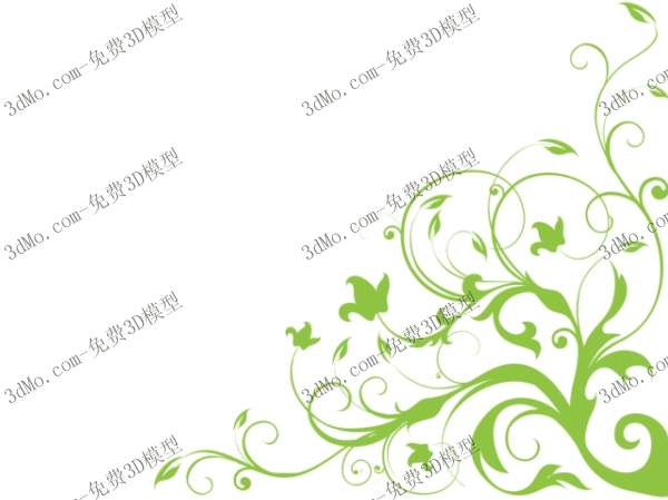 Ivy wall painting 3D model of grass