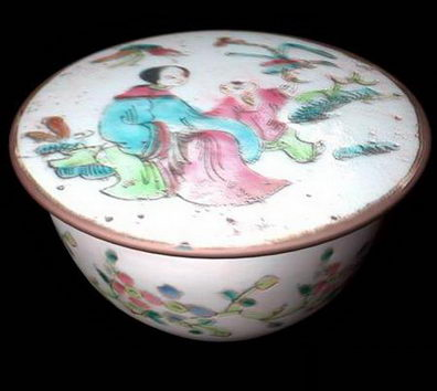 Acient Artwork Bowl With Lid China