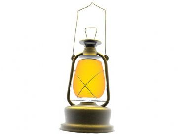 3D model of the old kerosene lamp