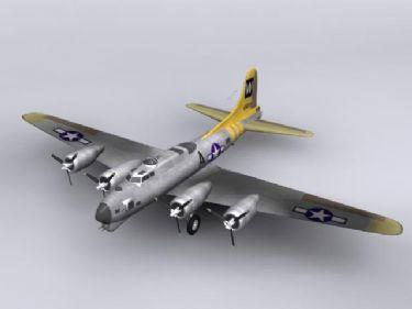 B-17 Flying Fortress bomber model