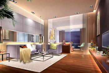 Modern minimalist style living room scene