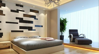 Modern bedroom 3D model (Han Guang Area Network, texture mapping)
