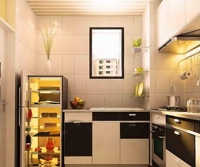 Small Sized Interior Design Kitchen Model Free Download
