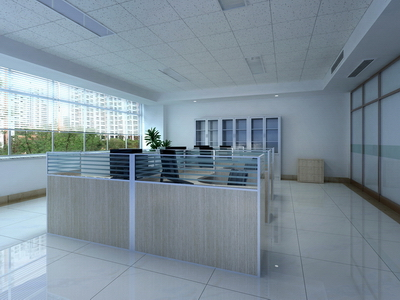 Office of the 3D models of large-bay