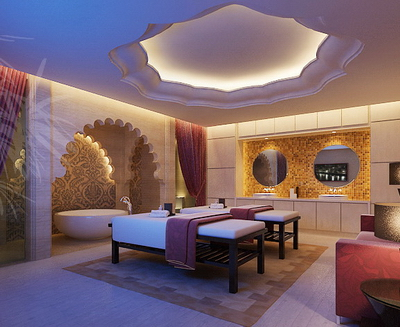 Spa Beauty Club Rooms Model With Map Free Download