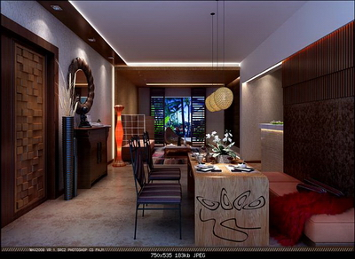 Interior Design Model: Modern Style Living Room Decoration Plan