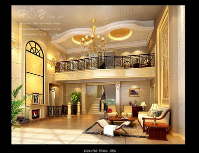 Interior Design Model Livingroom: 2-Deck Livingroom