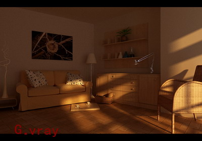 Sunset under the living room 3D models
