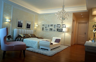 home interior design elegant bedroom 3ds max model free