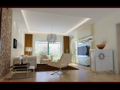 Residential Design: Simple Style Living Room Design 3Ds Max Model