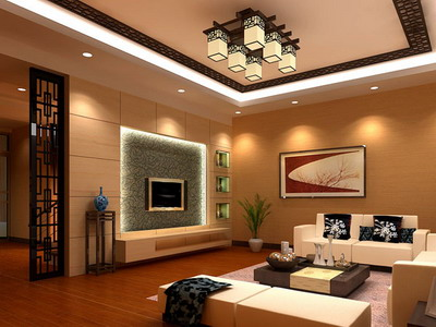 Residential Decor: Chinese Style Living Room Model