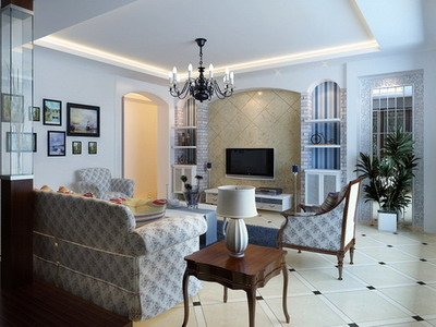 Modern Home Decor B Mediterranean Living Room