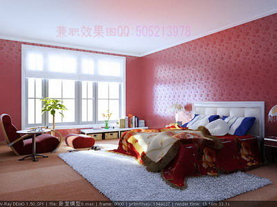 Modern Home Decor A: Pink Spacious Bedroom