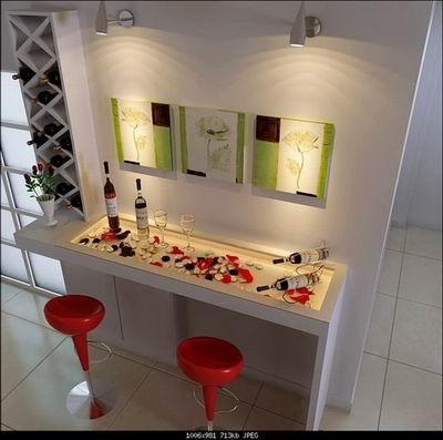 Home Decor: Art Wall and Home Bar