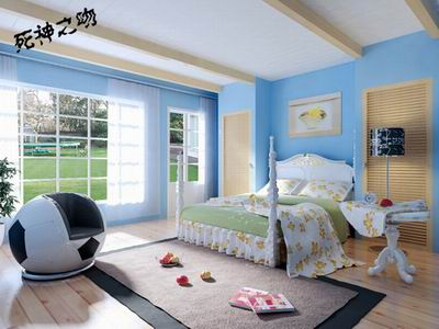 Bedroom Filled with Sunshine