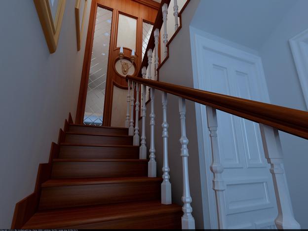 Woodern Staircase Design Model