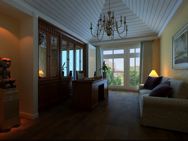 European Traditional Style Study Room