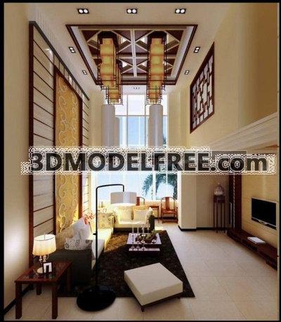 Chineseness Minimalism Livingroom