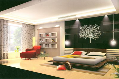 Simplism Bedroom--black and red