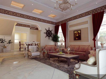 European style elegant living room