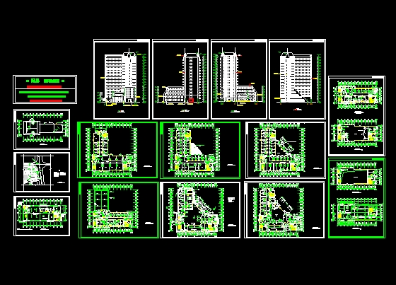 A full set of hospital free download Opensource cad dwg