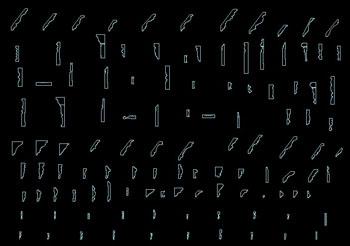Gypsum line paths CAD material