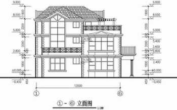 Two-story house full set CAD drawings