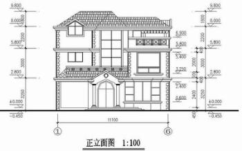 Three layers villas full set CAD drawings