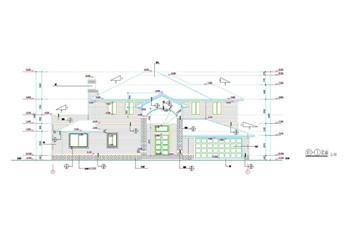 Modern style villa construction plans-5