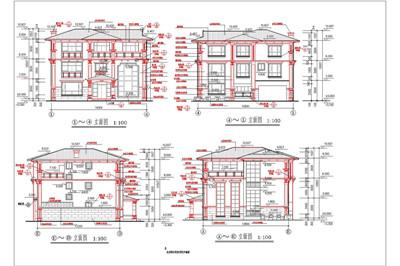Single-family luxury villa construction plans