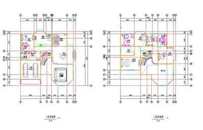 Double-layer S-shaped villa construction plan