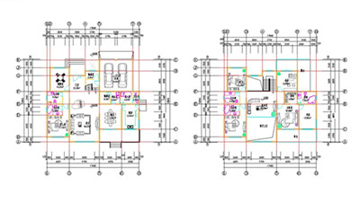 Double layer villa construction plans