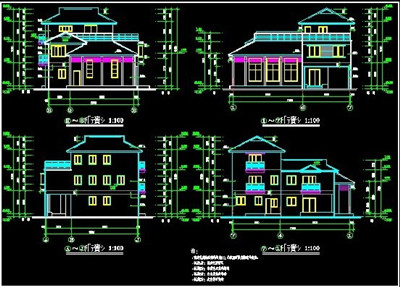Scattered Style Villa Building Plans