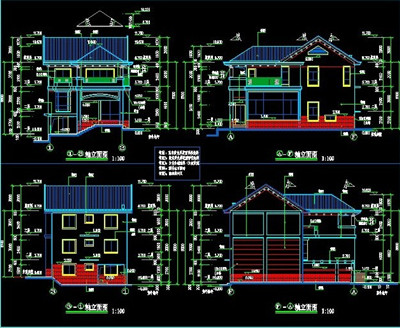 Three tier villa building plans free download for Building plan drawing software free