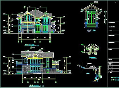Luxury villa construction cad drawings free download for Online autocad drawing