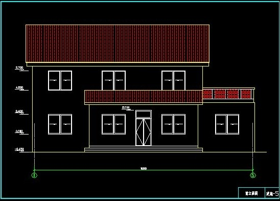 Double-layer villa CAD drawings