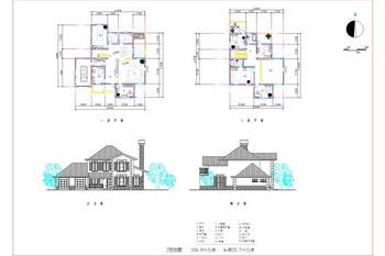 European style two-tier M-type villa