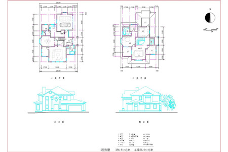 Double layer j shaped villa building plans free download for Residential building drawings download