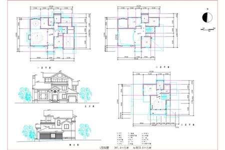 European-style three layers L-shaped villa