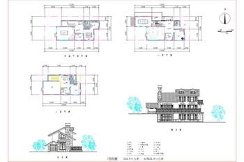 Split-level with terrace porches three layers villa