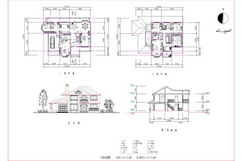 Scattered Structure Of Two Story Villa Cad Drawings Free