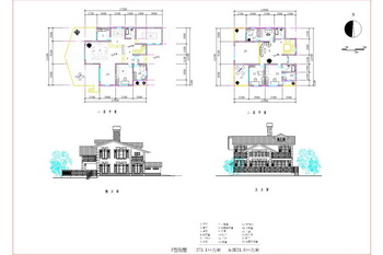 Second floor of the new courtyard villas CAD drawings